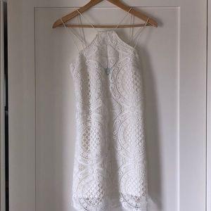 Off white, lace, mini dress